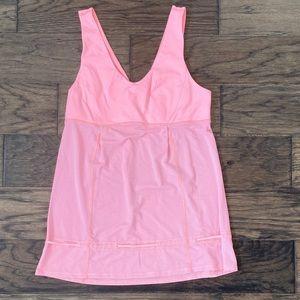 Size 8 Pink Stripe Lululemon Hustle & Bustle Tank